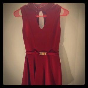 Red hot dress. Never worn